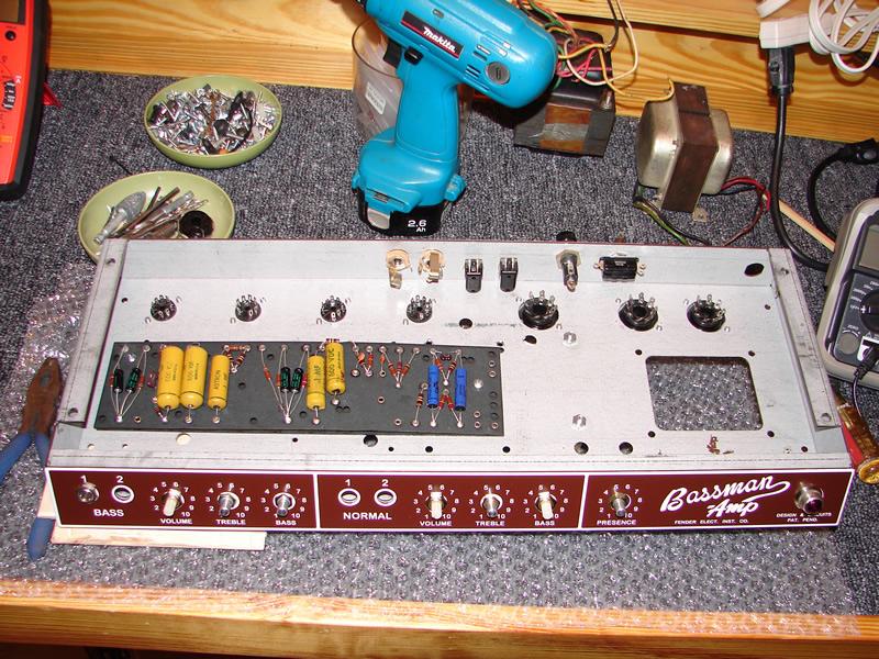Drew's Geezer Amps - Bassman 6G6 Build