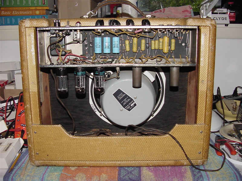 Fender Tweed Amp >> Drew's Geezer Amps - Fender Tweed Vibrolux 1956